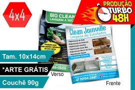 2500un Flyer 10x14cm Joinville 4x4 90g Turbo48h